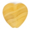 Glass Pressed Beads 10x10mm Heart Mustard Matt